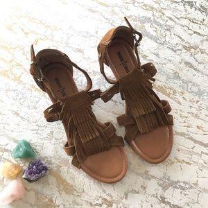Minnetonka Fringe Leather Sandals